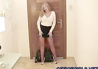 british milf wife arrives home from work in fully