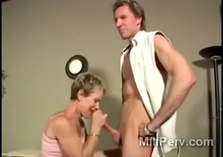 breathtaking blond cougar goes filthy blowing a