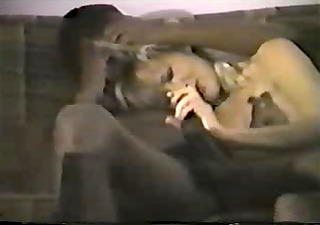 young blond white wife with darksome lover -