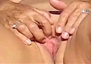 nasty granny fingering outdoor. non-professional