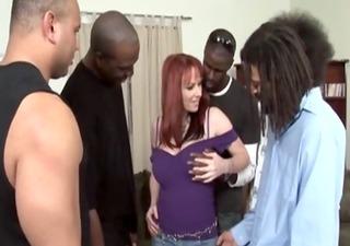 interracial hot redhead milf group-fucked