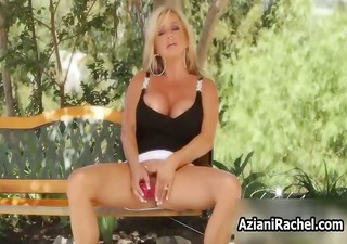 horny golden-haired mif goes mad masturbating