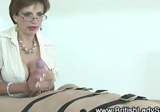 granny gives a tugjob to chap half her age and