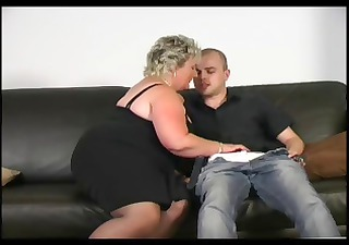 older big beautiful woman loves young penis