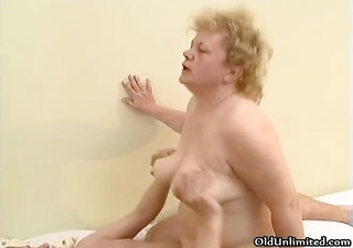 naughty old woman goes crazy riding part10