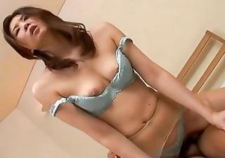 Japanese milf fucked in panties and pantyhose