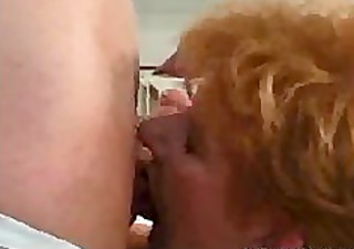 Young Guy Fucks Shorthaired Redhead 70 Year Old