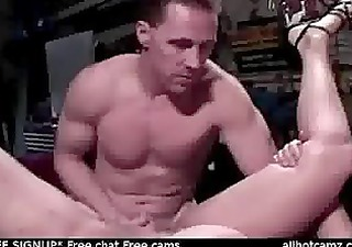 pear shaped redhead gives mechanc a boner and a