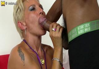 hot white mamma in an interracial fuckfest