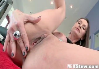 Busty brunette milf from MilfSoup goes part5